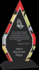 Diamond Stained Glass Acrylic with Black Base Achievement Awards