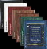 Blue Woodgrain Plaque Achievement Awards