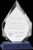 Diamond Crystal Award Blue Optical Crystal Awards