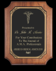 Scalloped/rounded Edge Walnut Plaque Employee Awards