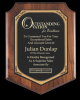 Walnut Finish Shield Plaque Employee Awards