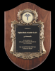 Walnut Cast Corporate Shield Plaque Employee Awards