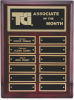 Rosewood Piano Finish Corporate Plaque Monthly Perpetual Plaques