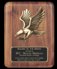 Walnut Eagle Plaque Sales Awards