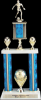 2 Tier 2 Column Trophy Sports Trophies