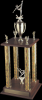4 Column Wood Base Trophy Sports Trophies