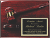 Deluxe Gavel Plaque Square Rectangle Awards