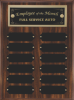 Perpetual Plaque Assembled with Black Plates Square Rectangle Awards