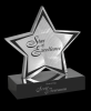 Brushed Silver Aluminum Star Star Awards