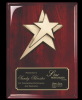 Rosewood Piano Finish Plaque W/ Star Casting Star Plaques