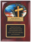 Rosewood Piano Finished Plaque with Resin Plaque Mount and Plate Achievement Awards