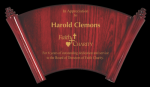 Rosewood Piano Finish Horizontal Scroll Plaque Achievement Awards