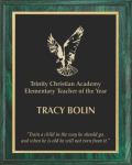 Green Woodgrain Plaque Achievement Awards