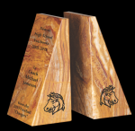 Tan Marble Bookends Set Achievement Awards