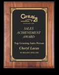 Rounded Edge Solid Walnut Plaque Achievement Awards