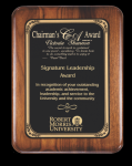 Rounded Edge/corner Walnut Plaque Achievement Awards
