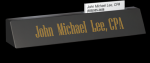 Black Marble Desk Name W/ Business Card Slot Boss Gift Awards
