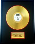 Gold or Platinum Record Custom Record Award