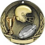 Tri-Colored Series Medals -Football Football Trophy Awards