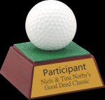 Golf Ball Resin Golf Awards