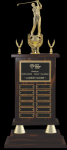 Perpetual Walnut Finished Trophy Golf Awards