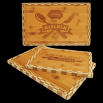 Bamboo Cutting Board with Butcher Block Edge Kitchen Gifts