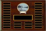 Large Perpetual Plaque With Legend Oval Resin Monthly Perpetual Plaques