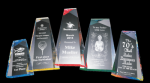 Faceted Wedge Acrylic Award Sales Awards