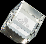 Crystal Cube Paperweight Secretary Gift Awards